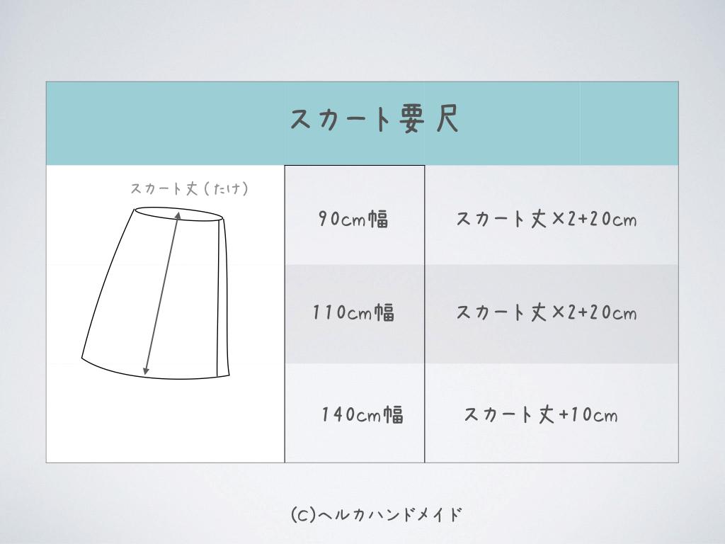 要尺スカート
