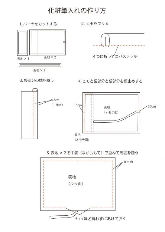 メイクブラシポーチの作り方01