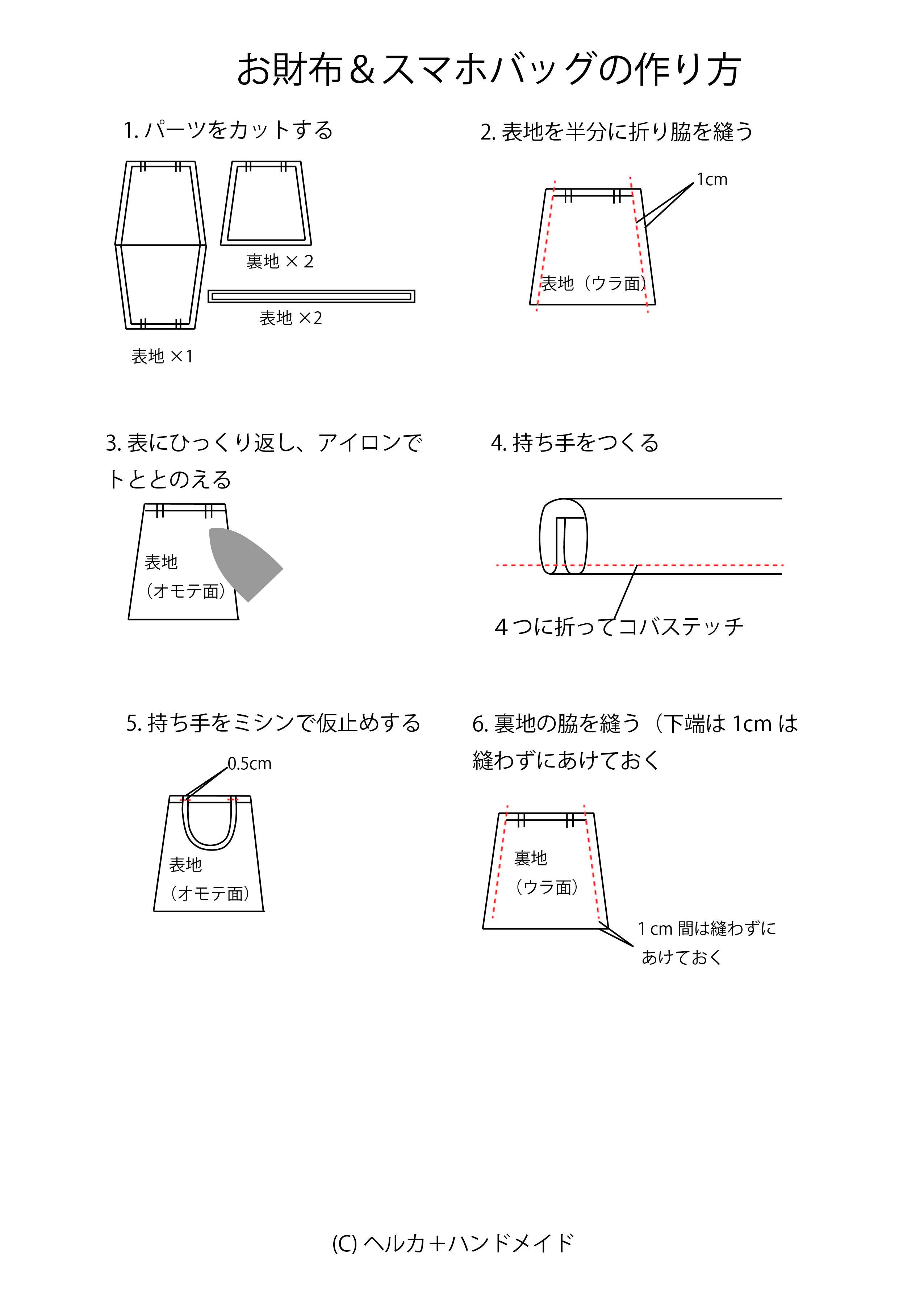 小さな手提げバッグの作り方01
