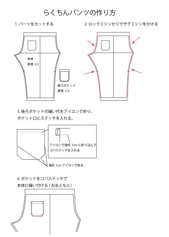 ギャザーパンツの作り方01
