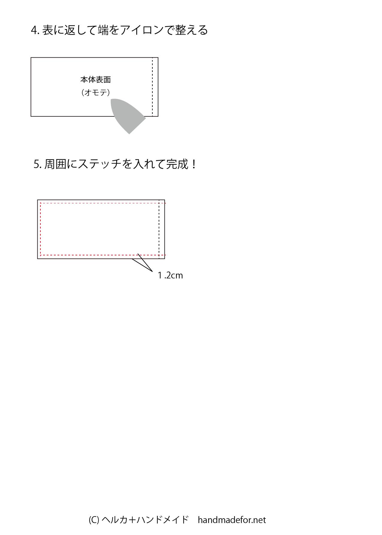 枕カバー作り方02