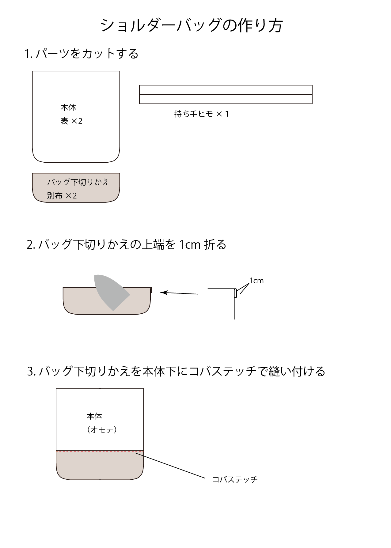 ショルダーバッグの作り方01