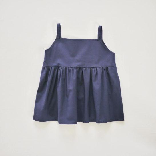 8a8020a4d318e 子供服 ベビーギャザーキャミソールドレスの無料型紙と作り方
