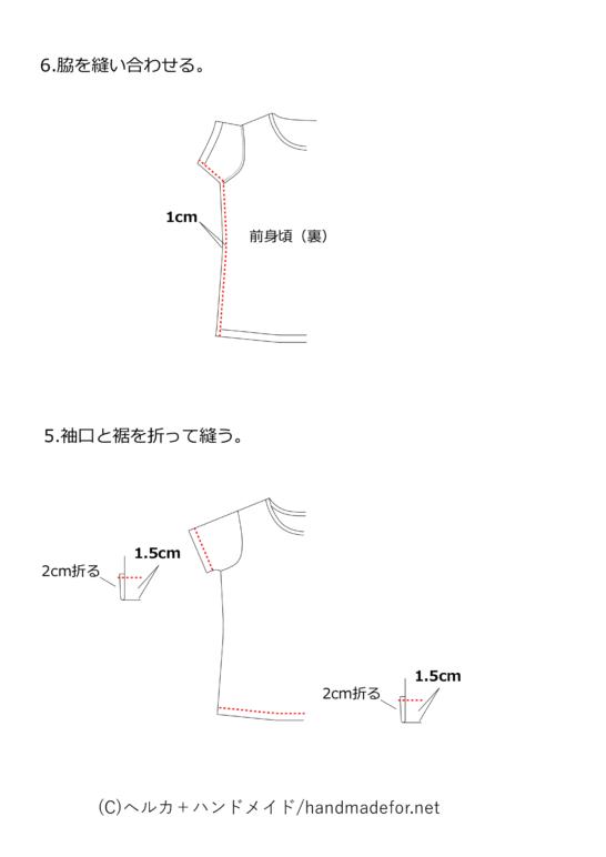 きほんのTシャツの作り方その3