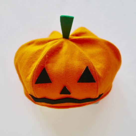 かぼちゃベレー帽全体
