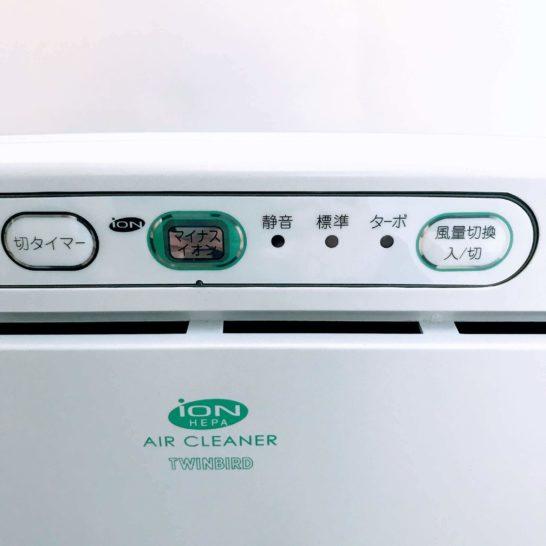 ツインバード空気清浄機ボタン