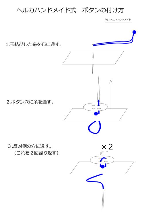 ボタンの付け方図解01