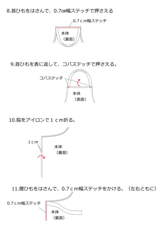 エプロンの作り方図解3
