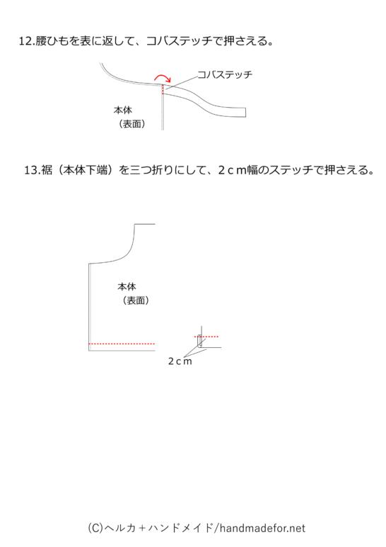エプロンの作り方図解4