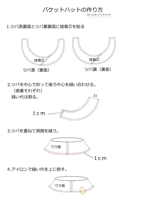 バケットハットの作り方1
