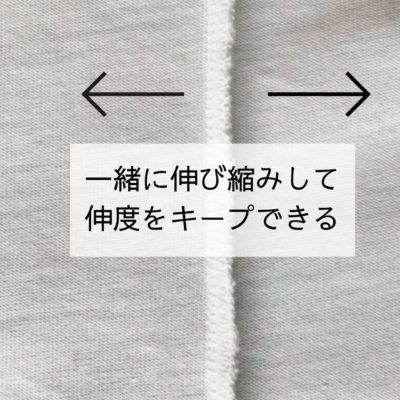 4本糸縁かがり(4本糸合わせ縁かがり縫い)の伸度