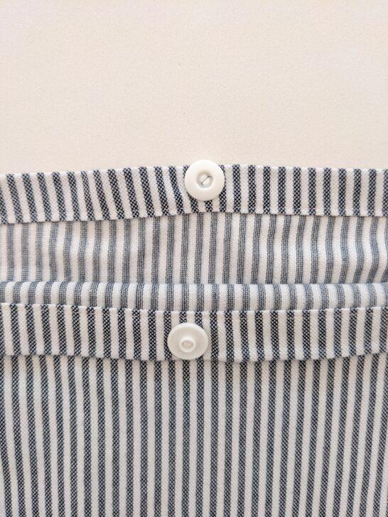 布団カバースナップボタンの付け方