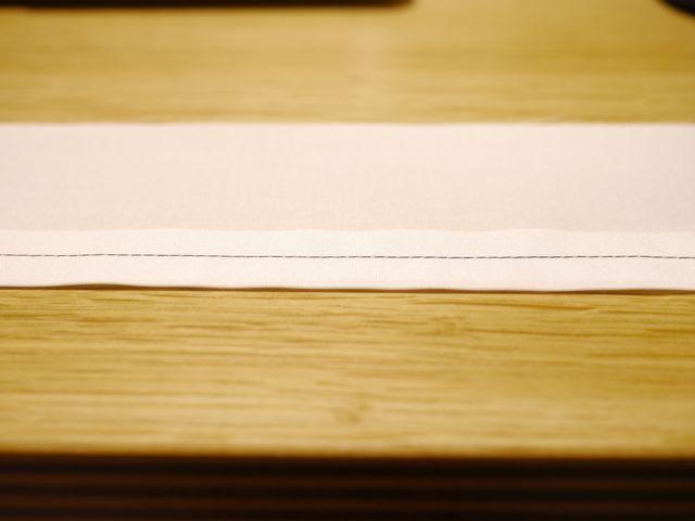糸調子がよい縫い目(横から)